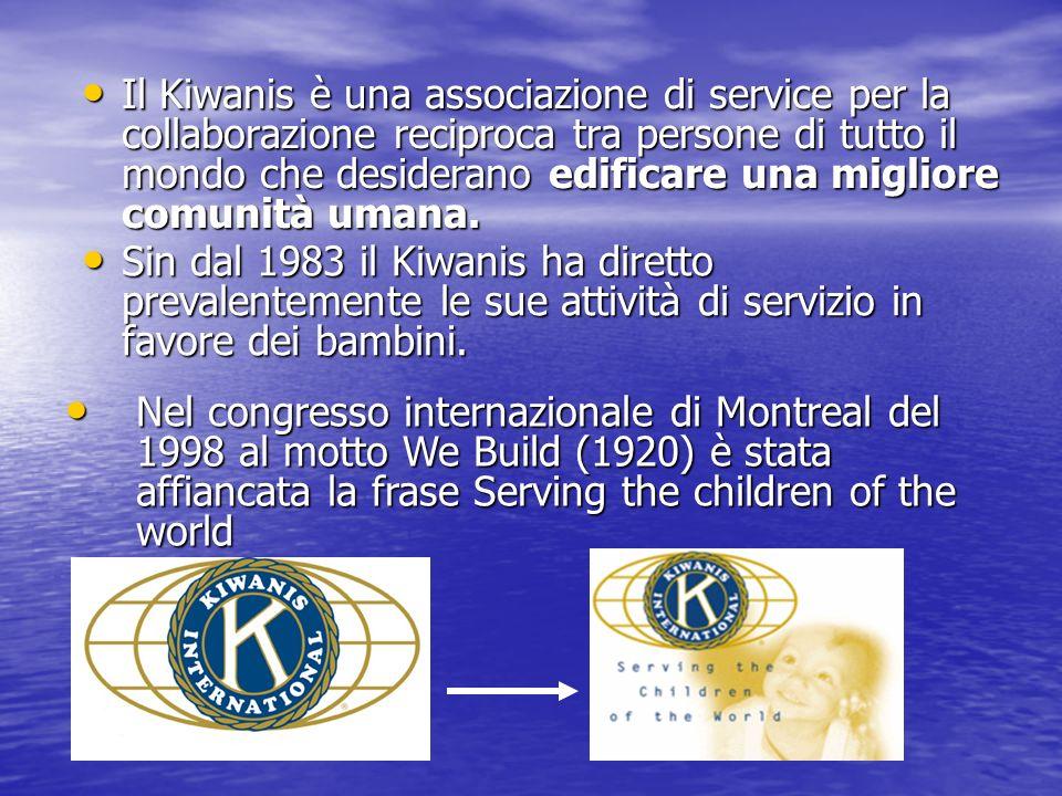 Il Kiwanis è una associazione di service per la collaborazione reciproca tra persone di tutto il mondo che desiderano edificare una migliore comunità umana.