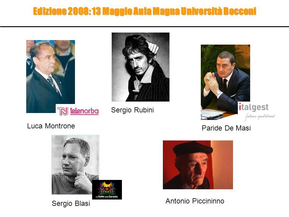 Edizione 2008: 13 Maggio Aula Magna Università Bocconi