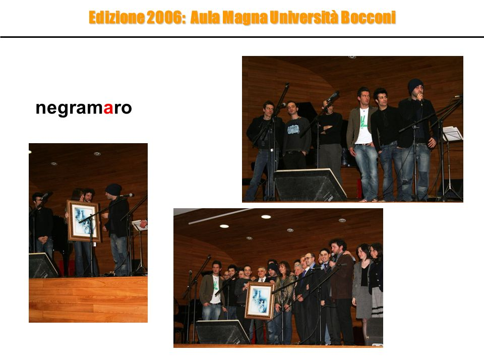 Edizione 2006: Aula Magna Università Bocconi