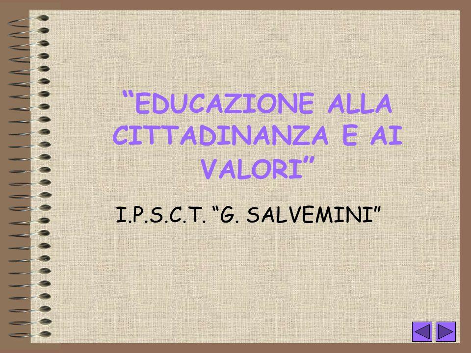 EDUCAZIONE ALLA CITTADINANZA E AI VALORI
