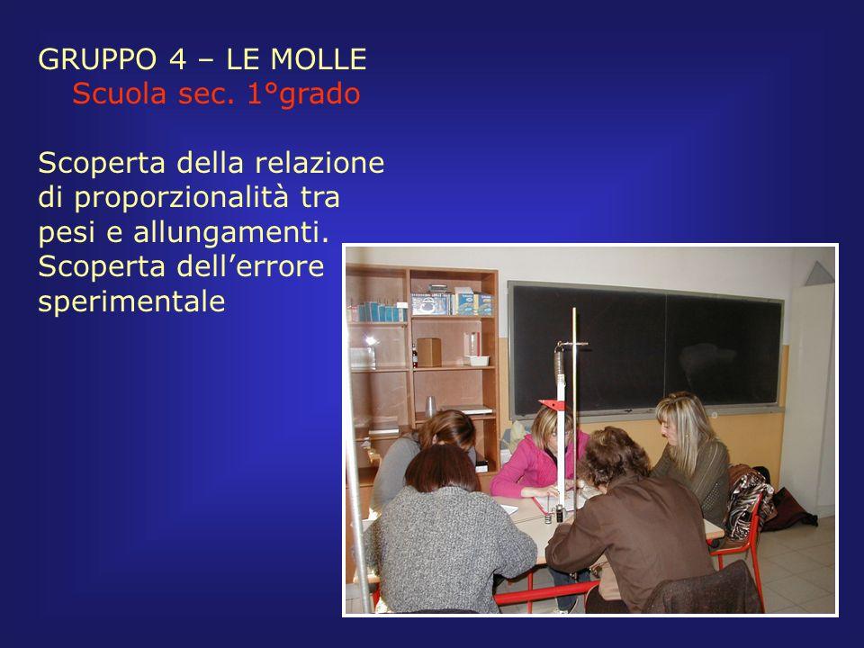 GRUPPO 4 – LE MOLLE Scuola sec. 1°grado.