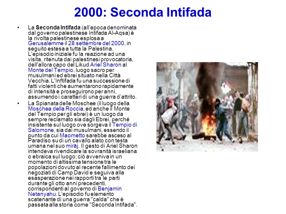 2000: Seconda Intifada