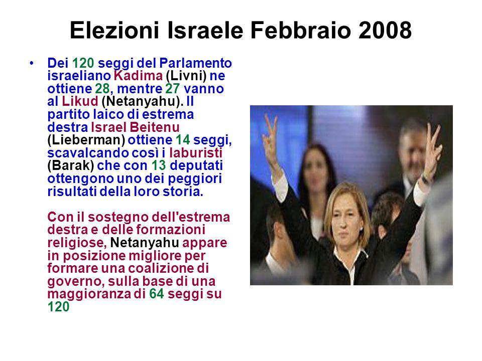 Elezioni Israele Febbraio 2008