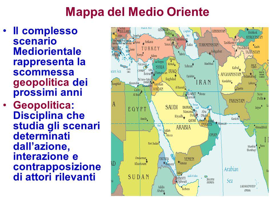 Mappa del Medio Oriente
