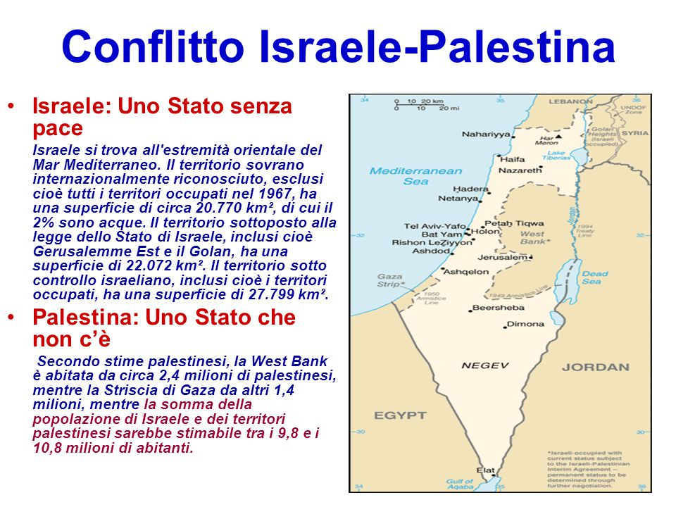 Conflitto Israele-Palestina