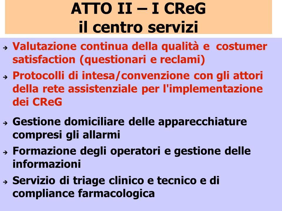 ATTO II – I CReG il centro servizi