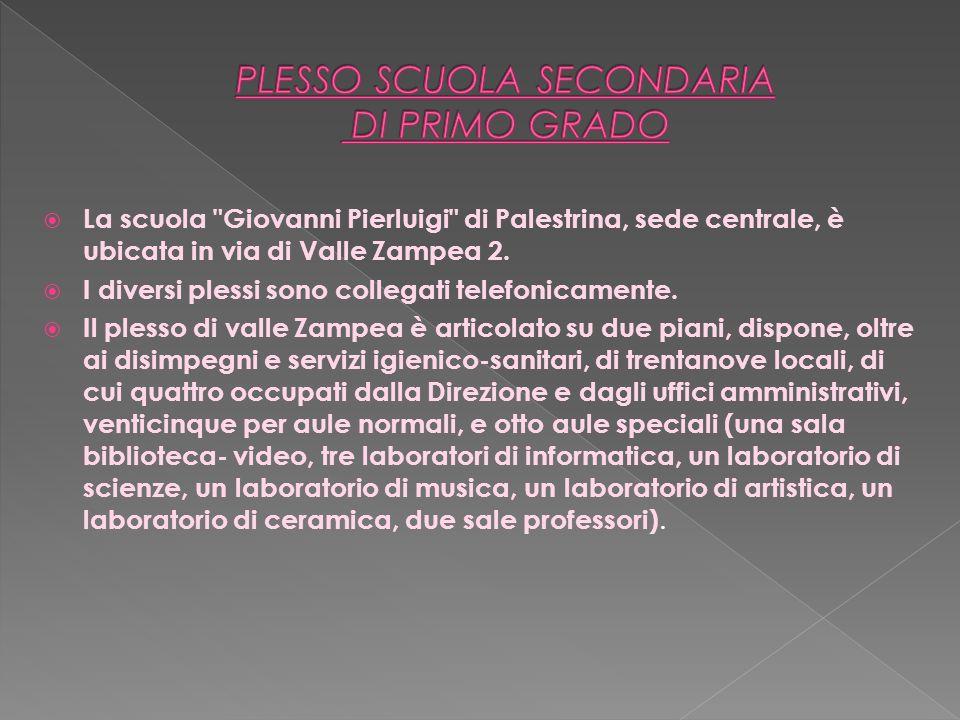 PLESSO SCUOLA SECONDARIA DI PRIMO GRADO