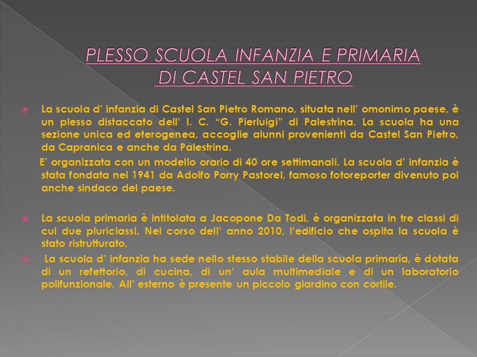 PLESSO SCUOLA INFANZIA E PRIMARIA DI CASTEL SAN PIETRO