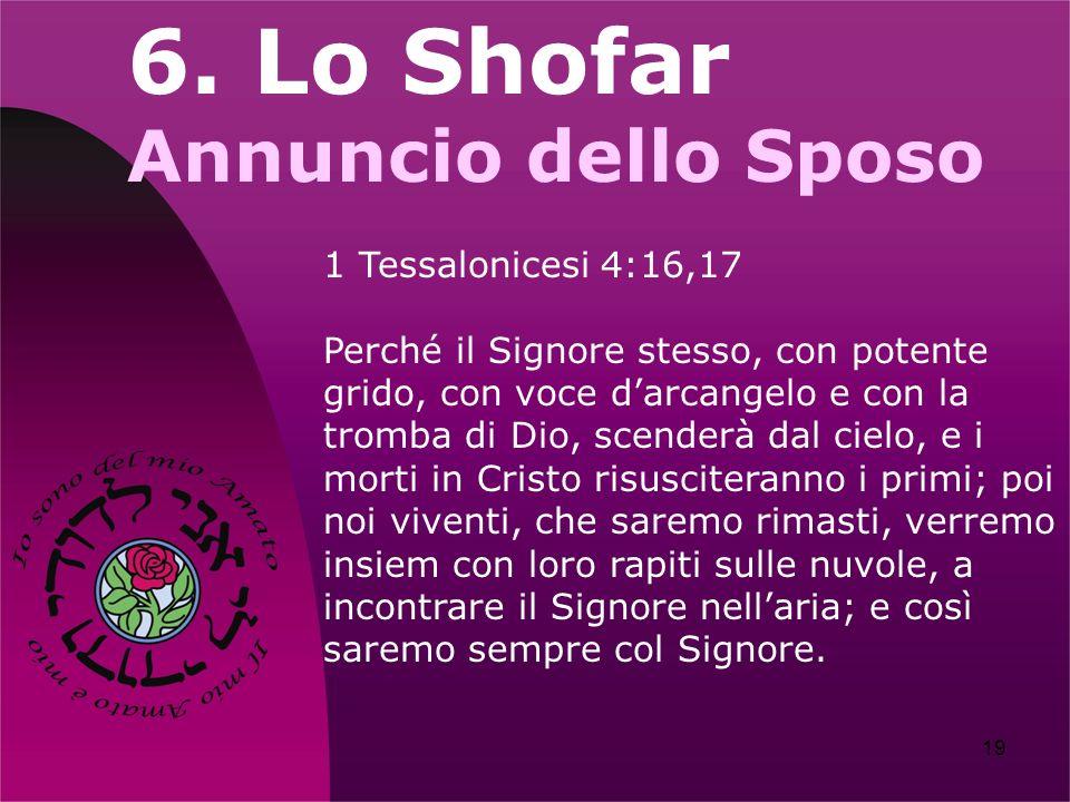 6. Lo Shofar Annuncio dello Sposo 1 Tessalonicesi 4:16,17