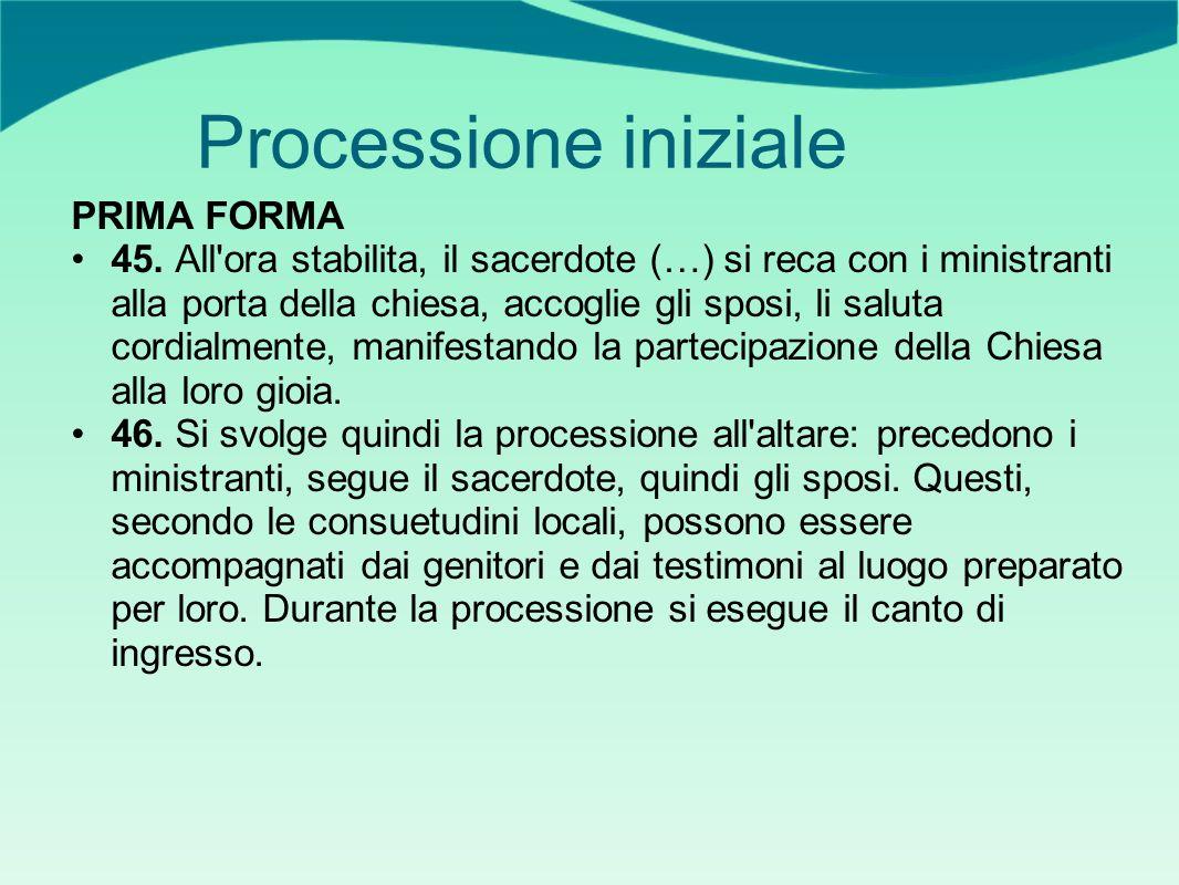 Processione iniziale PRIMA FORMA