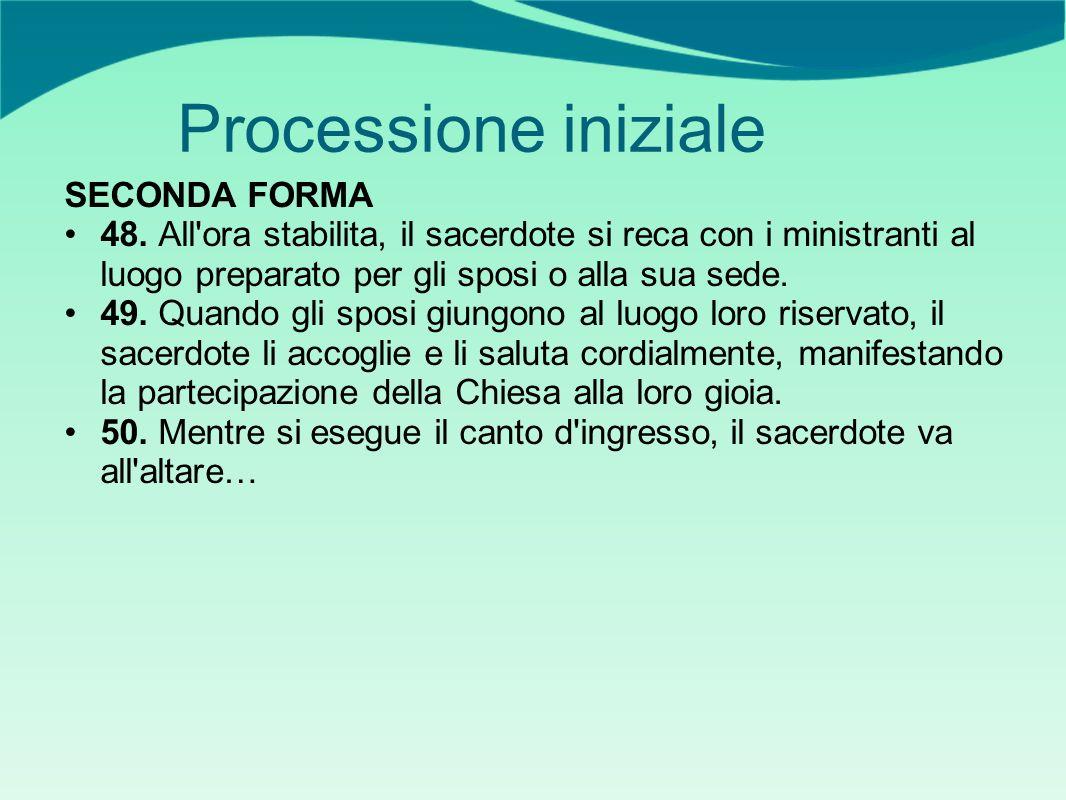 Processione iniziale SECONDA FORMA