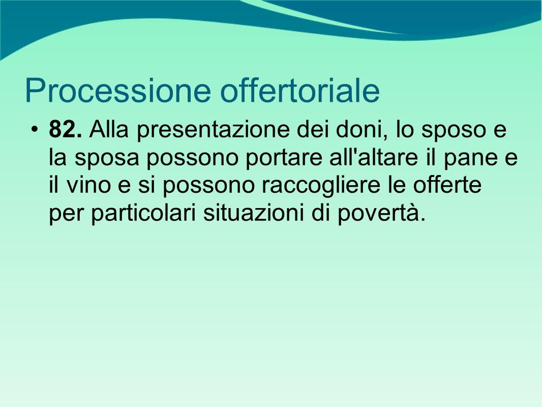 Processione offertoriale