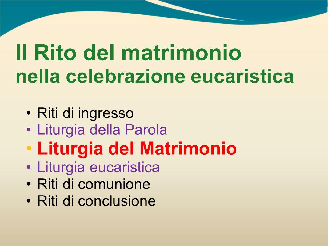 Il Rito del matrimonio nella celebrazione eucaristica