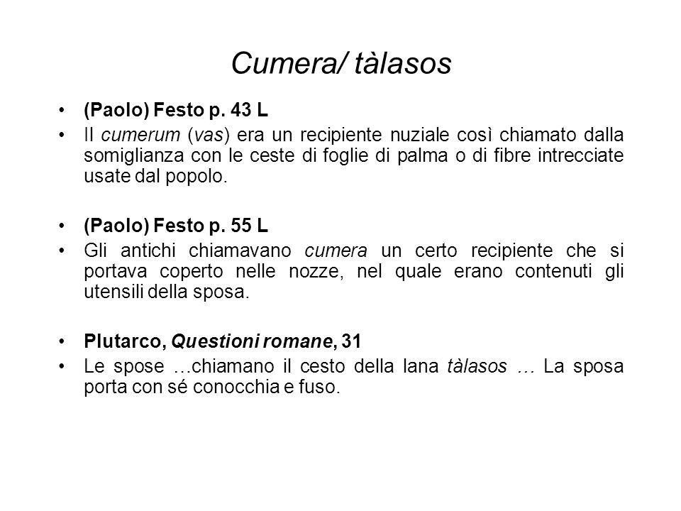 Cumera/ tàlasos (Paolo) Festo p. 43 L