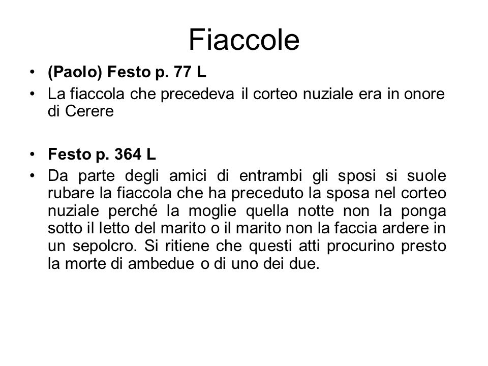 Fiaccole (Paolo) Festo p. 77 L