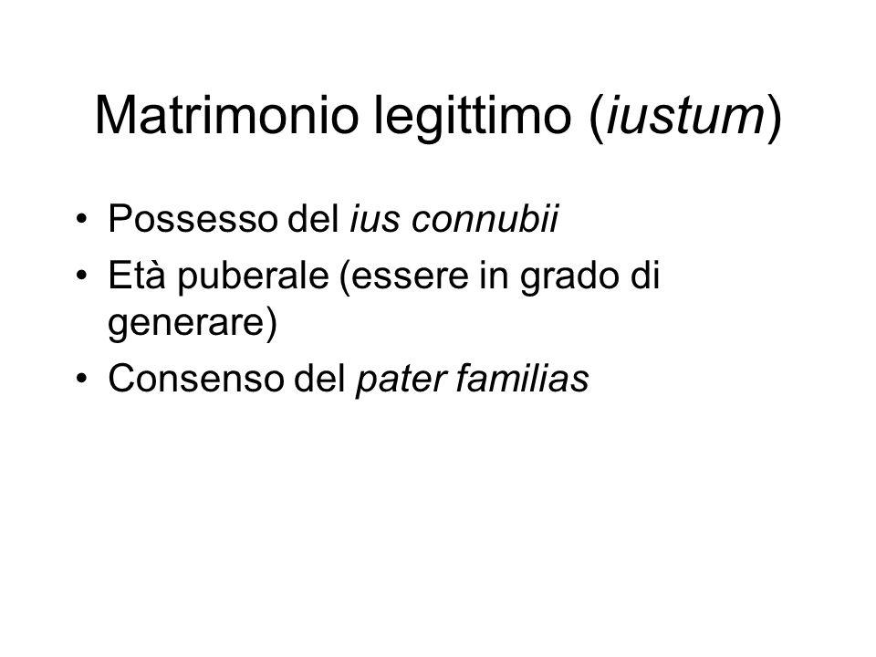 Matrimonio legittimo (iustum)