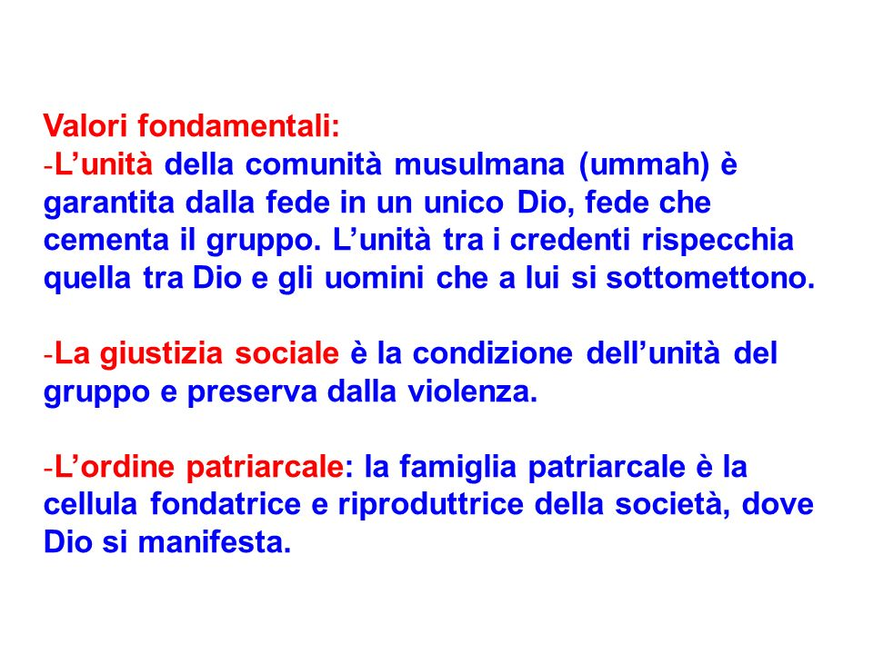 Valori fondamentali: