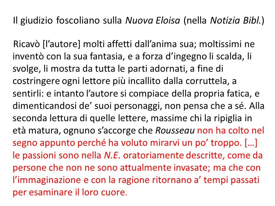 Il giudizio foscoliano sulla Nuova Eloisa (nella Notizia Bibl.)