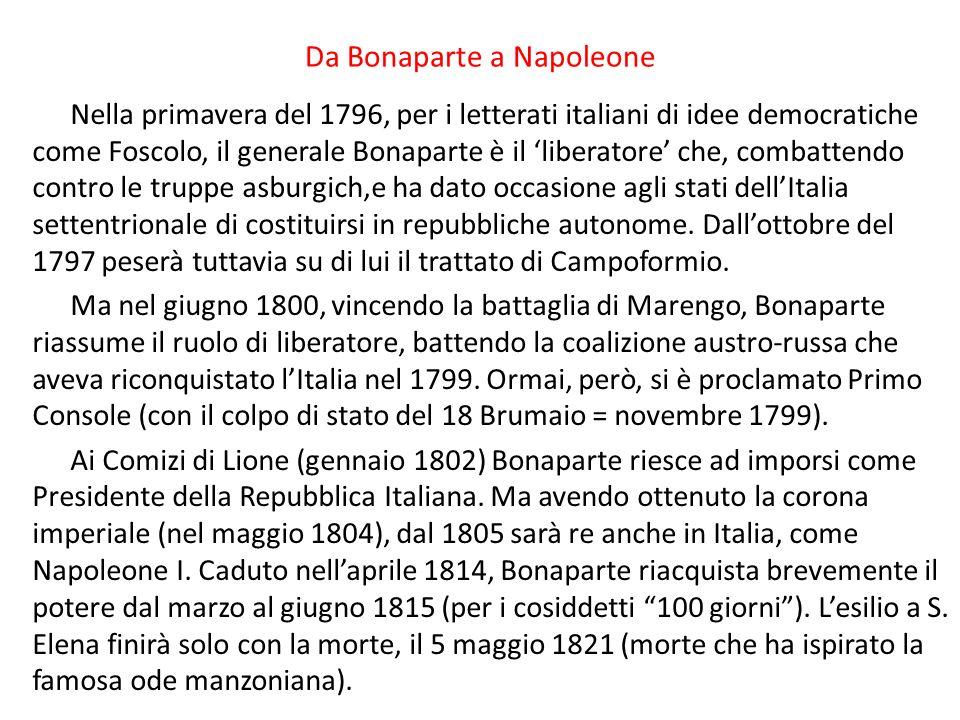 Da Bonaparte a Napoleone