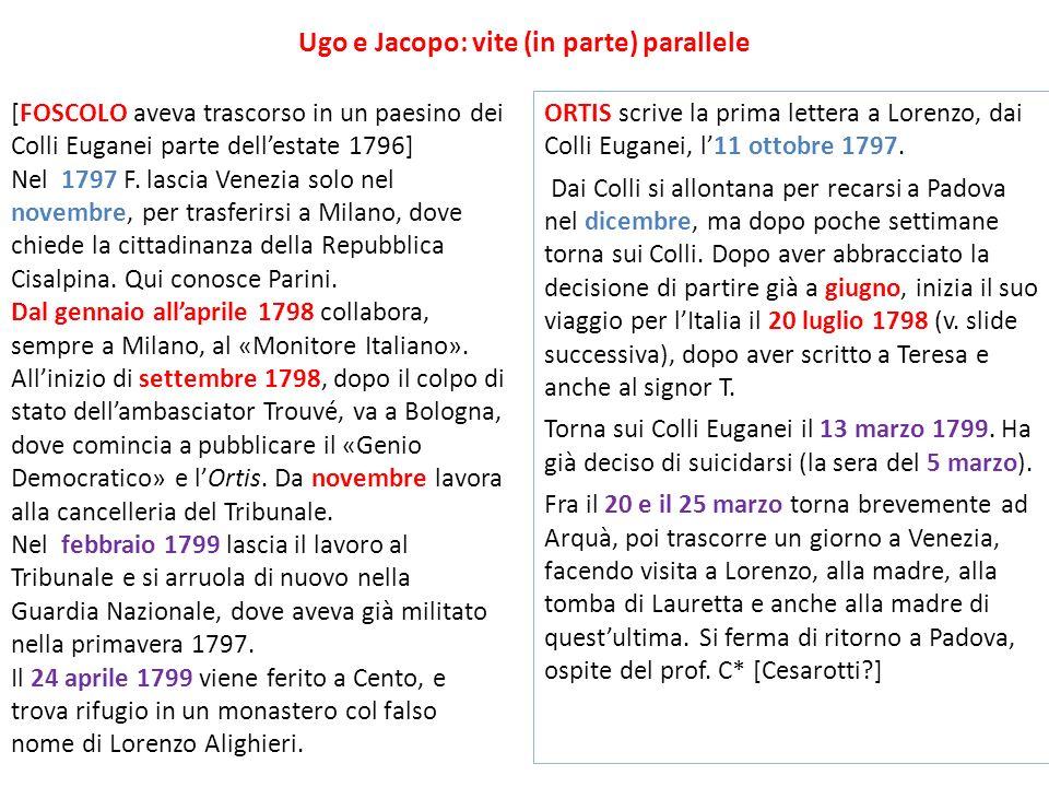 Ugo e Jacopo: vite (in parte) parallele