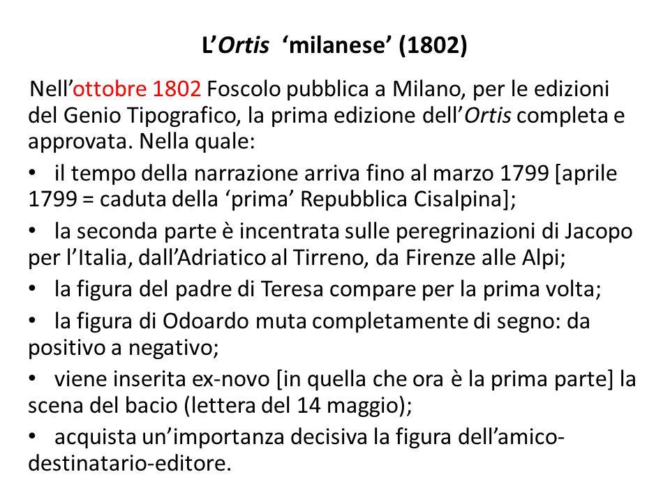 L'Ortis 'milanese' (1802)