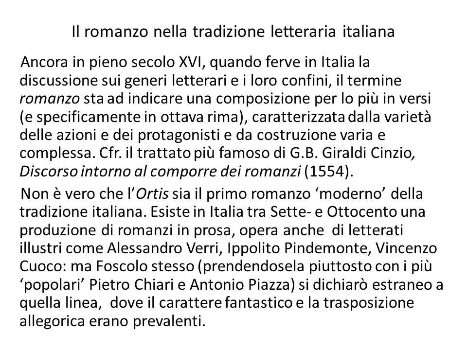Il romanzo nella tradizione letteraria italiana