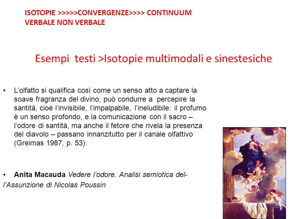Esempi testi >Isotopie multimodali e sinestesiche