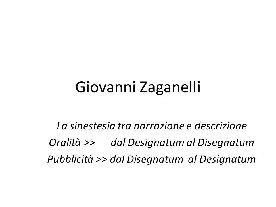 Giovanni Zaganelli La sinestesia tra narrazione e descrizione