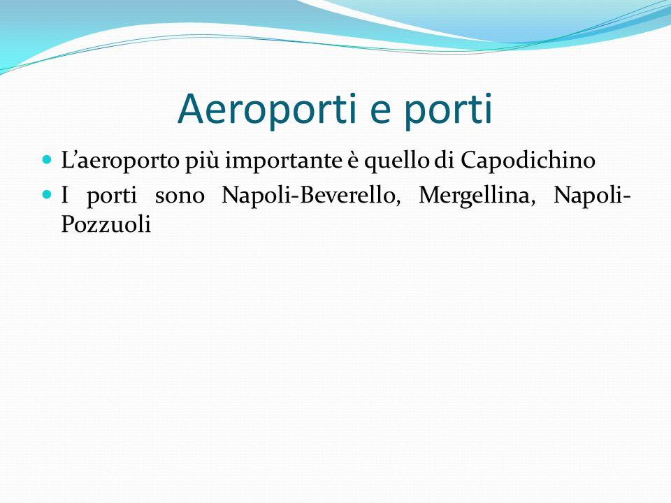 Aeroporti e porti L'aeroporto più importante è quello di Capodichino