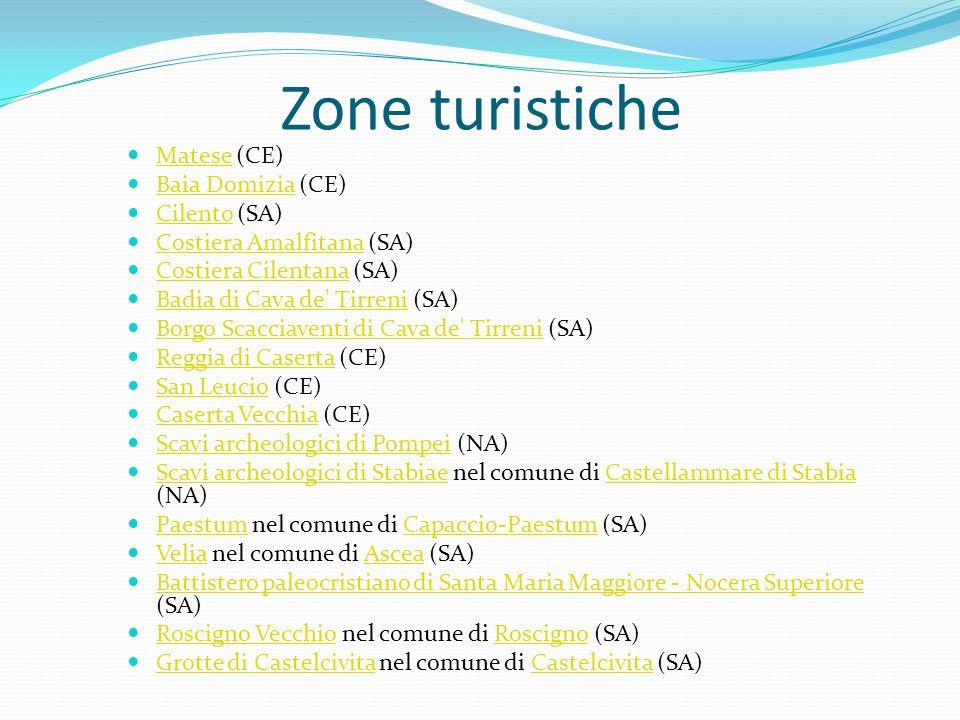 Zone turistiche Matese (CE) Baia Domizia (CE) Cilento (SA)