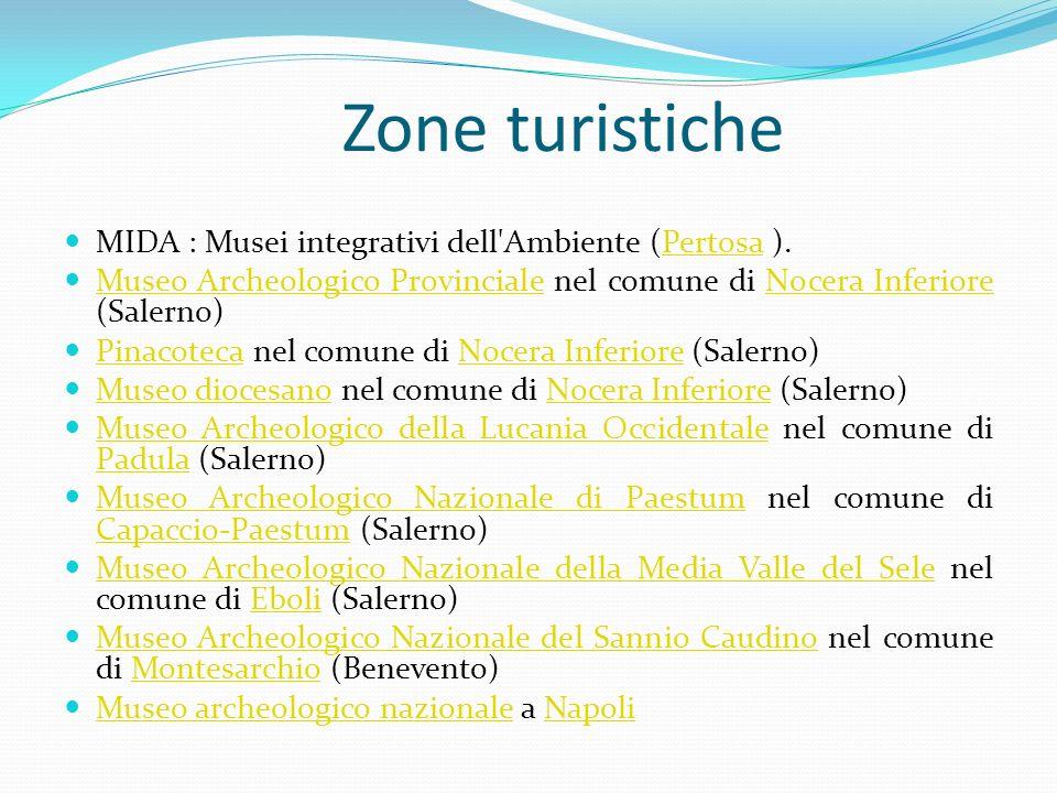 Zone turistiche MIDA : Musei integrativi dell Ambiente (Pertosa ).