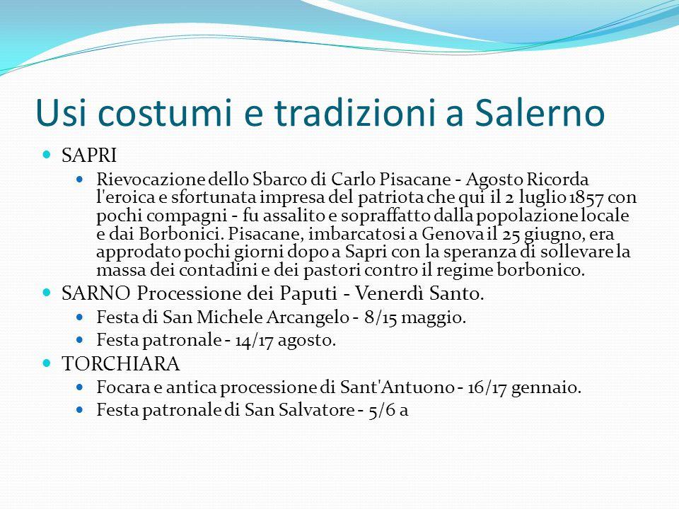 Usi costumi e tradizioni a Salerno