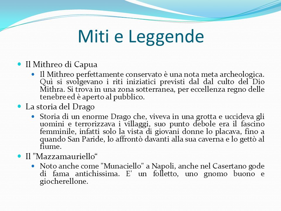 Miti e Leggende Il Mithreo di Capua La storia del Drago