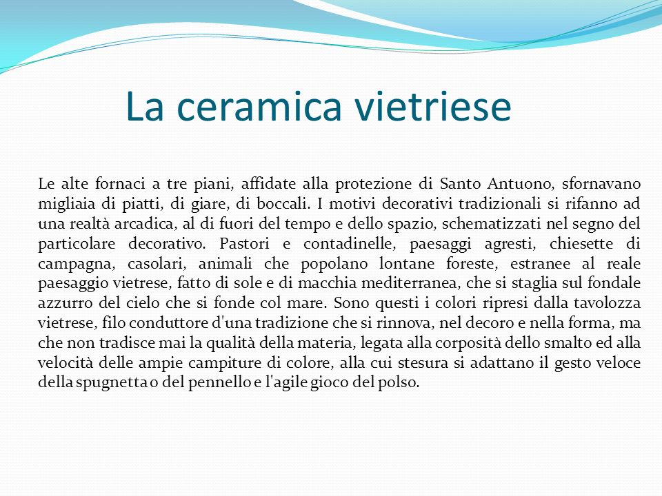 La ceramica vietriese