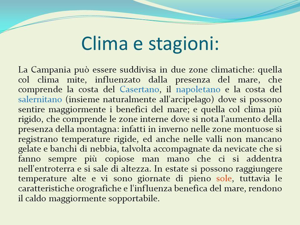 Clima e stagioni: