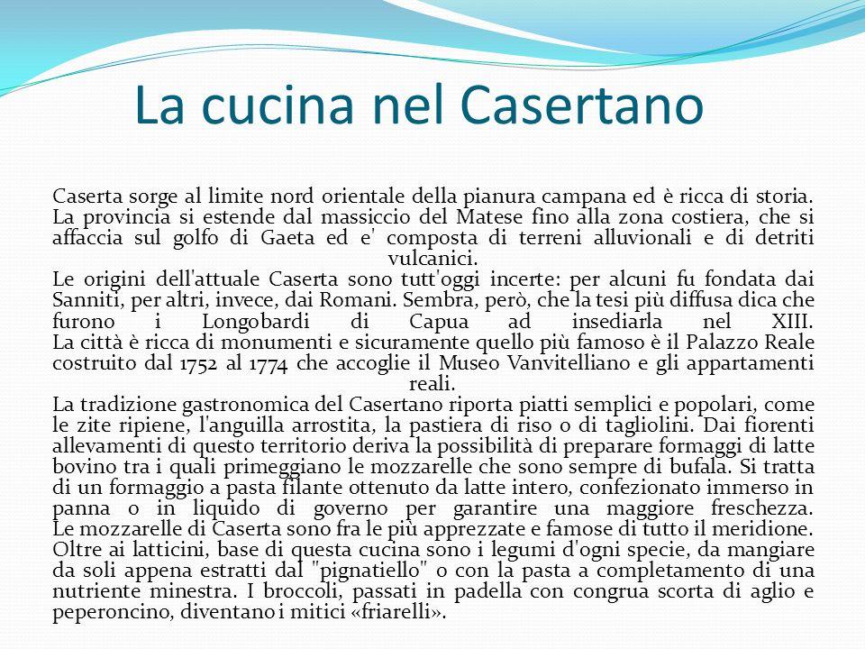 La cucina nel Casertano