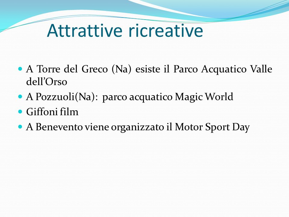Attrattive ricreative