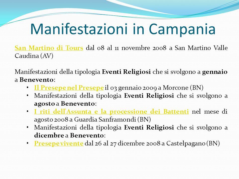 Manifestazioni in Campania