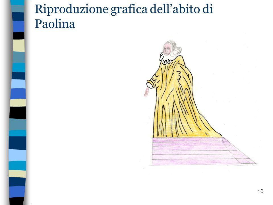 Riproduzione grafica dell'abito di Paolina