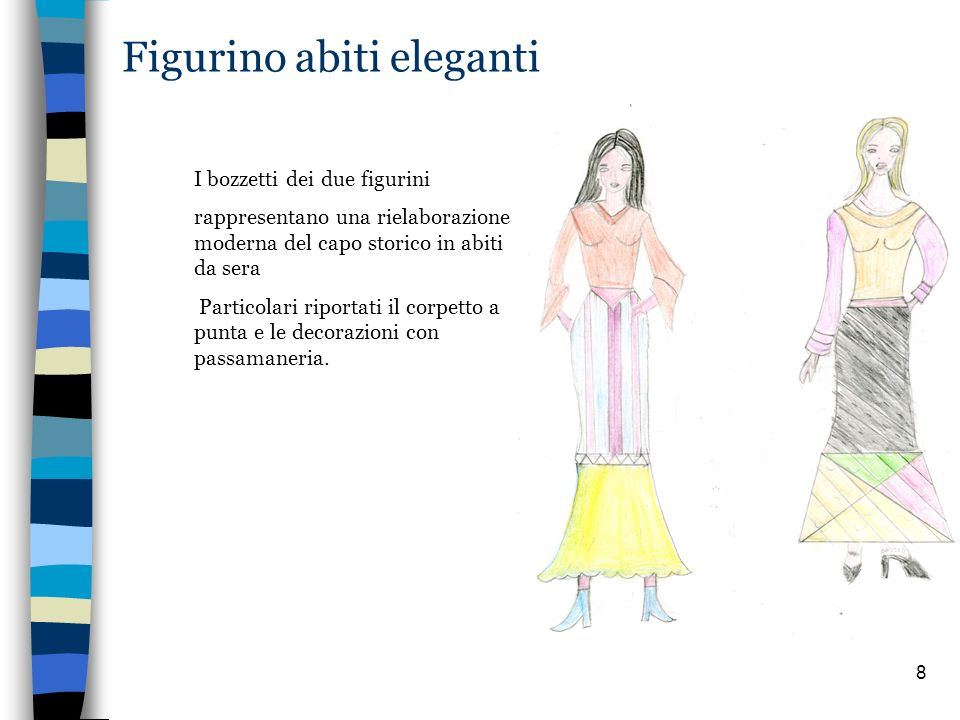 Figurino abiti eleganti