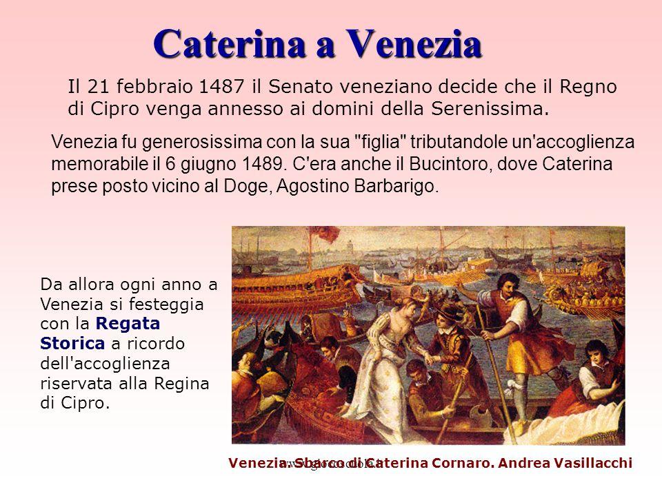 Venezia. Sbarco di Caterina Cornaro. Andrea Vasillacchi