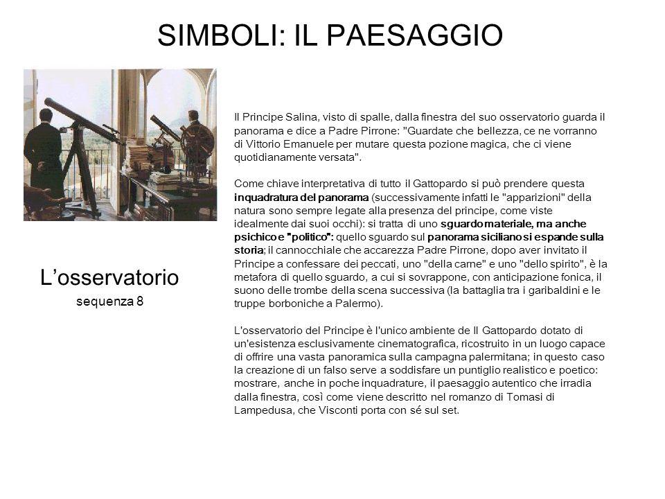 SIMBOLI: IL PAESAGGIO L'osservatorio sequenza 8