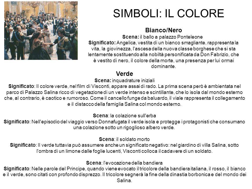 SIMBOLI: IL COLORE Bianco/Nero Verde