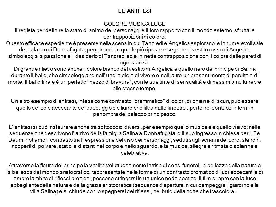 LE ANTITESI COLORE MUSICA LUCE.