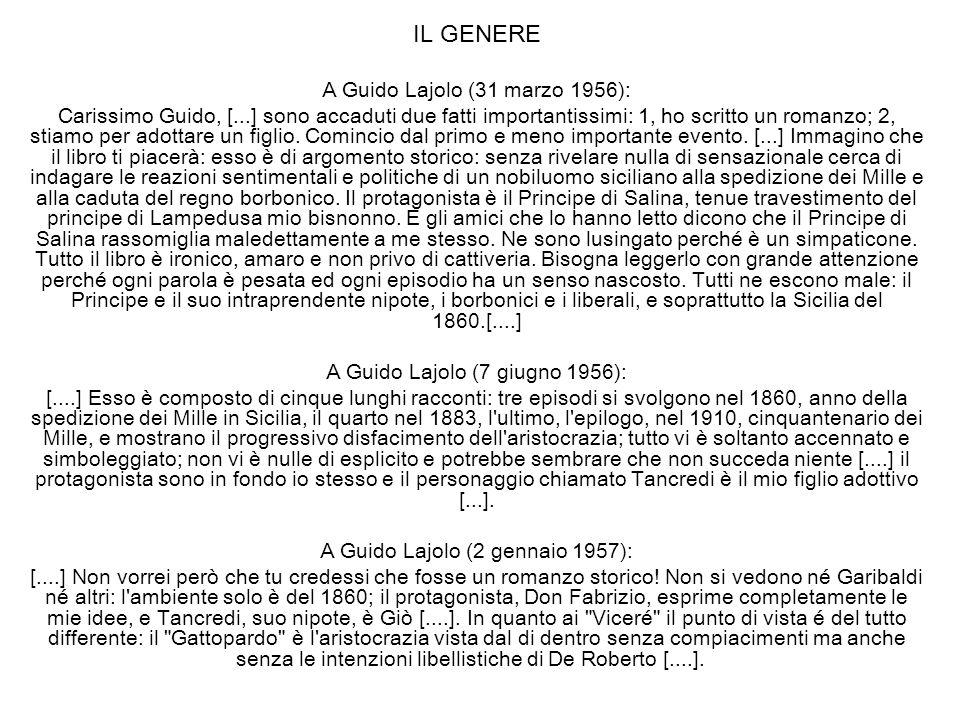 IL GENERE A Guido Lajolo (31 marzo 1956):