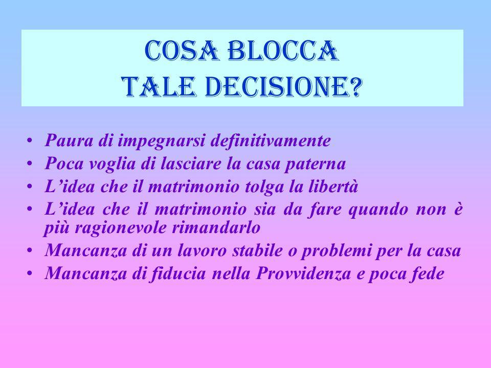 COSA BLOCCA TALE DECISIONE