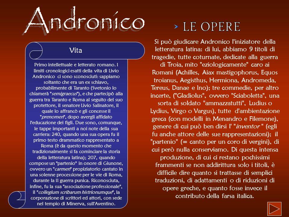 Andronico LE OPERE Vita