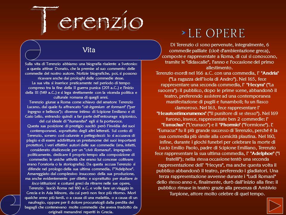 Terenzio LE OPERE.