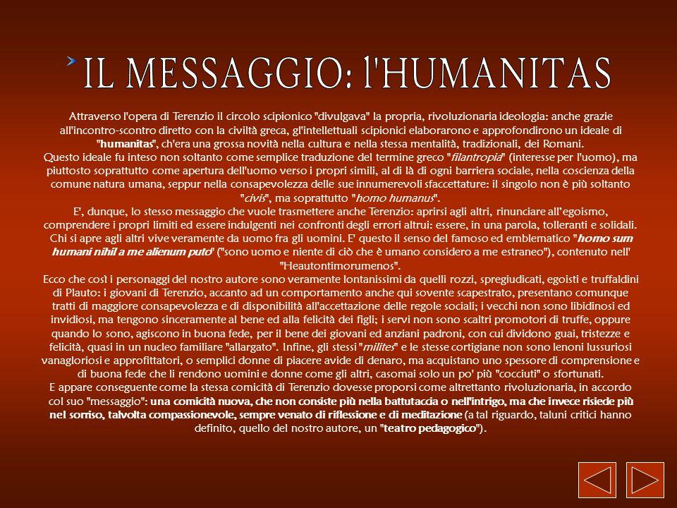 IL MESSAGGIO: l HUMANITAS