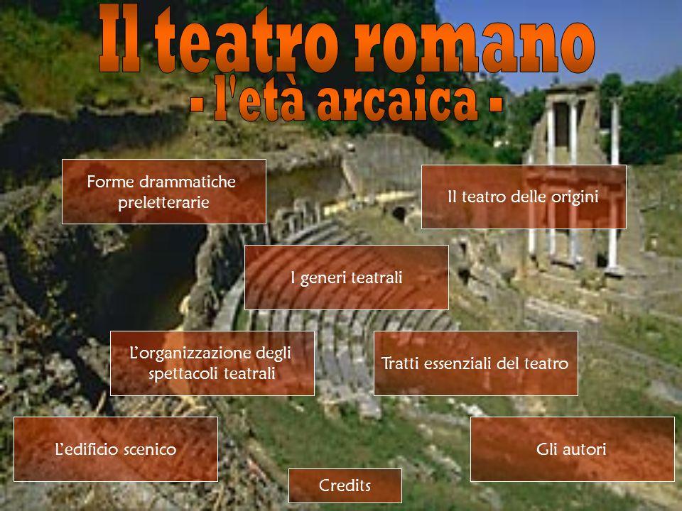 Il teatro romano - l età arcaica - Forme drammatiche preletterarie